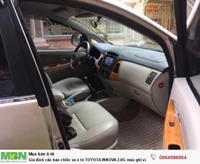 Gia đình cần bán chiếc xe ô tô TOYOTA INNOVA 2.0G màu ghi vàng SX 2011 6