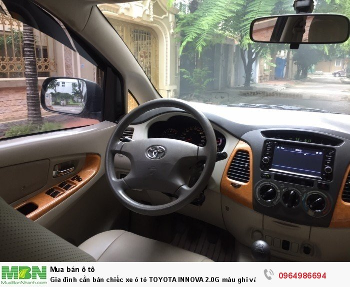 Gia đình cần bán chiếc xe ô tô TOYOTA INNOVA 2.0G màu ghi vàng SX 2011 7