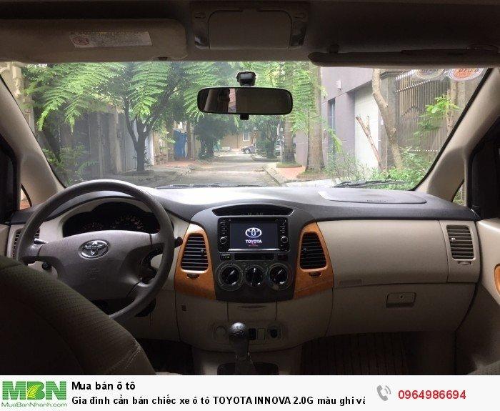 Gia đình cần bán chiếc xe ô tô TOYOTA INNOVA 2.0G màu ghi vàng SX 2011 8