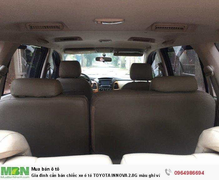 Gia đình cần bán chiếc xe ô tô TOYOTA INNOVA 2.0G màu ghi vàng SX 2011 9