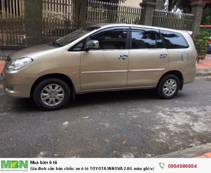Gia đình cần bán chiếc xe ô tô TOYOTA INNOVA 2.0G màu ghi vàng SX 2011 10