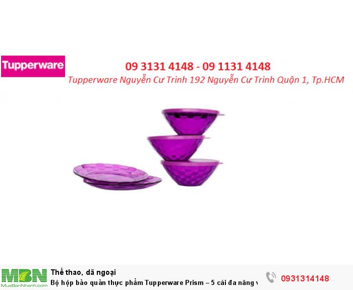 Bộ hộp bảo quản thực phẩm Tupperware Prism – 5 cái  đa năng và tiện dụng0