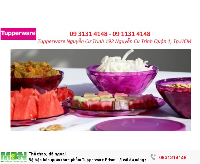 Bộ hộp bảo quản thực phẩm Tupperware Prism – 5 cái  đa năng và tiện dụng1