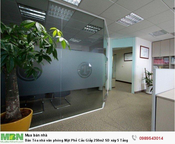 Bán Tòa nhà văn phòng Mặt Phố Cầu Giấy 250m2 SD xây 5 Tầng Kinh Doanh Đỉnh