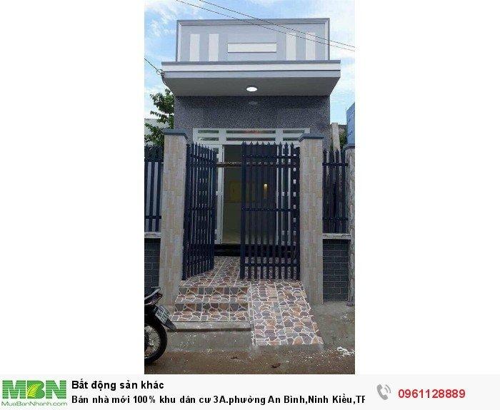 Bán nhà mới 100% khu dân cư 3A.phường An Bình,Ninh Kiều,TPCT(54)