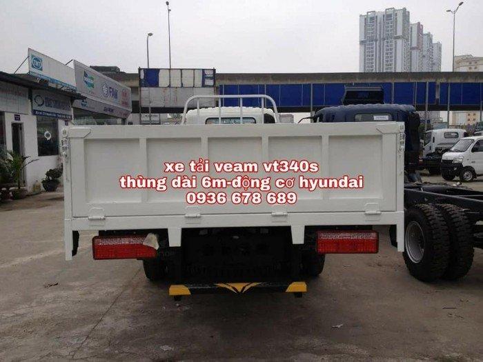 Xe tải veam vt340s, thùng dài 6m1, động cơ hyundai, tải trọng 3.5 tấn