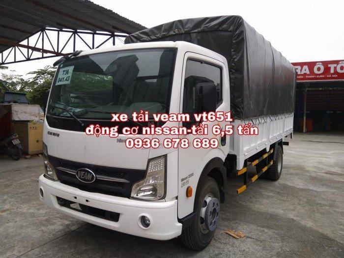 Xe tải Veam vt651, động cơ Nissan, thùng 5m1,tải trọng 6,5 tấn