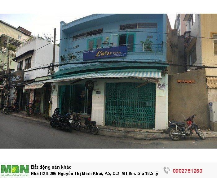 Nhà HXH 306 Nguyễn Thị Minh Khai, P.5, Q.3. MT 8m. Giá 18.5 tỷ.