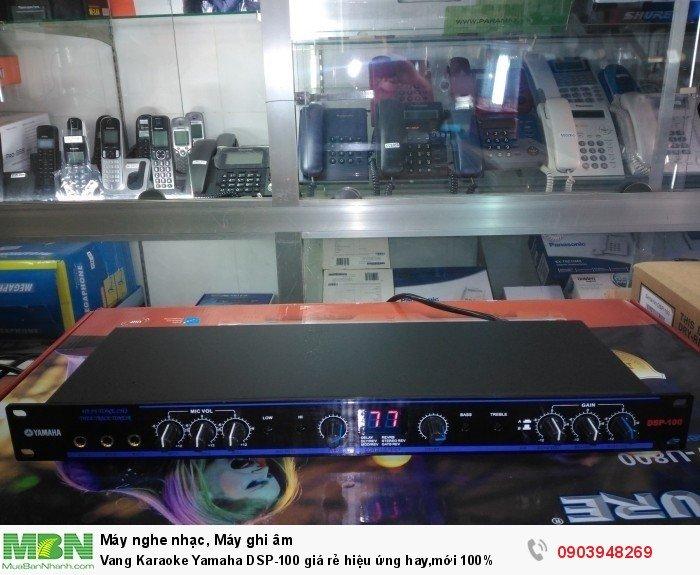 Vang Karaoke DSP-100 có kích thước nhỏ gọn 430x 235x 45mm3