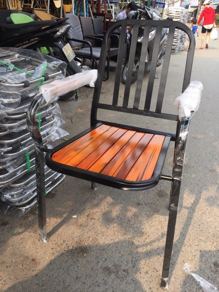 Ghế gỗ cafe, có lưng tựa, mẫu mới0