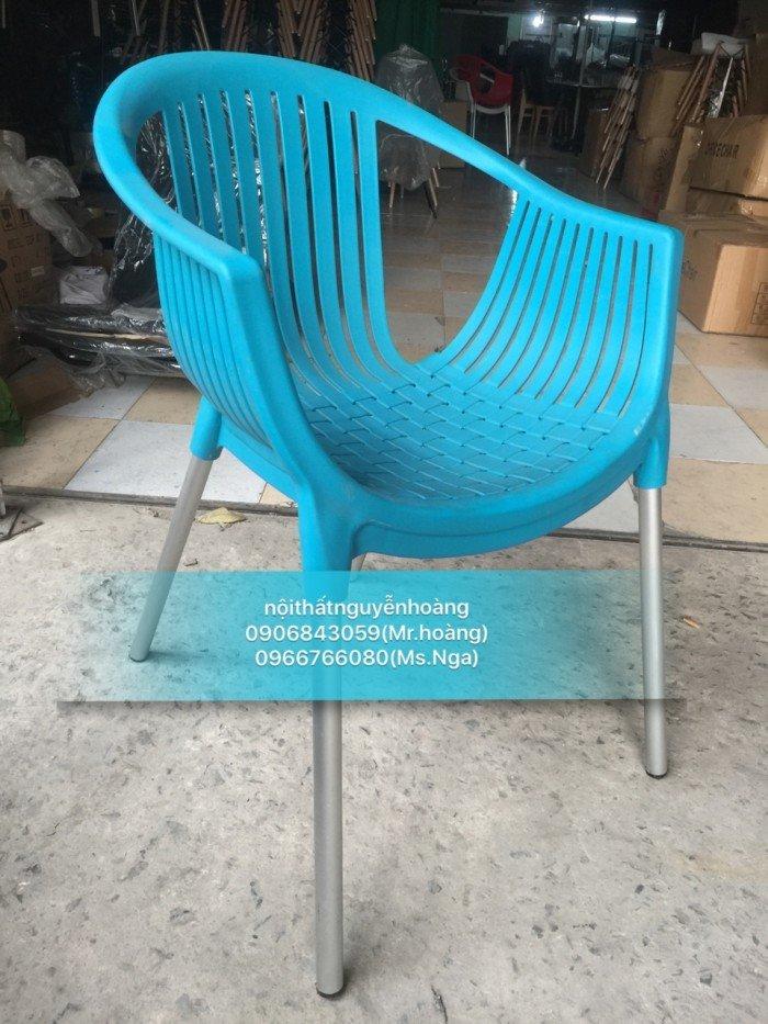 Ghế nhựa chân sắt kinh doanh cafe, đủ màu sắc1