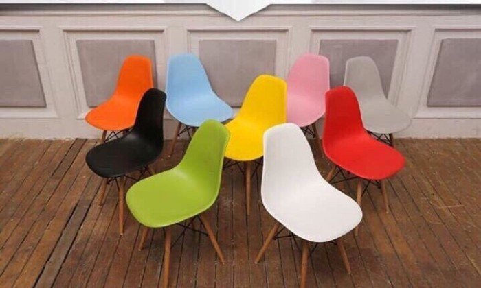 Ghế nhựa nhiều màu sắc sặc sở, miễn phí vận chuyển1