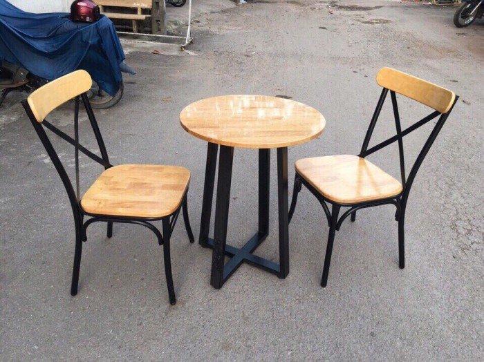 Bộ bàn ghế quán ăn, 2 ghế, 1 bàn tròn0