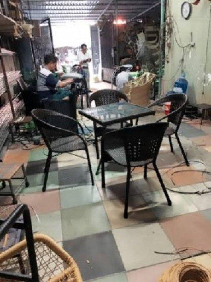 Thanh lý bộ bàn ghế giả mây cafe giá sỉ. Liên hệ: 0906843059 Lê Hoàng (24/24)0