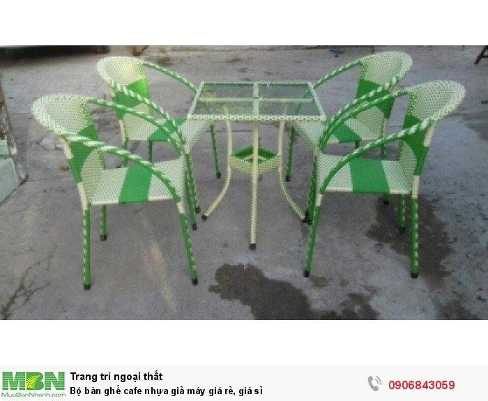 Bộ bàn ghế cafe nhựa giả mây giá rẻ, giá sỉ. Liên hệ: 0906843059 Lê Hoàng (24/24)0