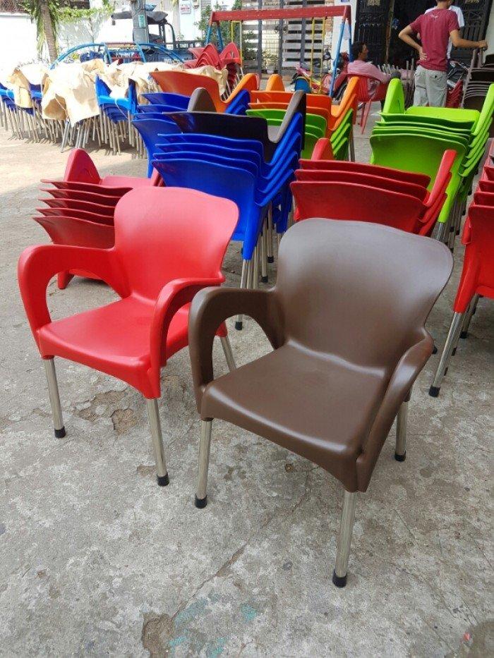 Ghế nhựa đúc, chân inox giá sỉ Nội Thất Nguyễn Hoàng TPHCM