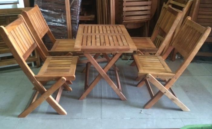 Bộ bàn ghế gỗ xếp cafe vỉa hè. Liên hệ: 0906843059 Lê Hoàng (24/24)0