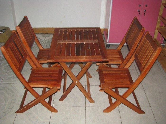 Bộ bàn ghế gỗ xếp cafe vỉa hè. Giao hàng toàn quốc. Liên hệ: 0906843059 Lê Hoàng (24/24)2