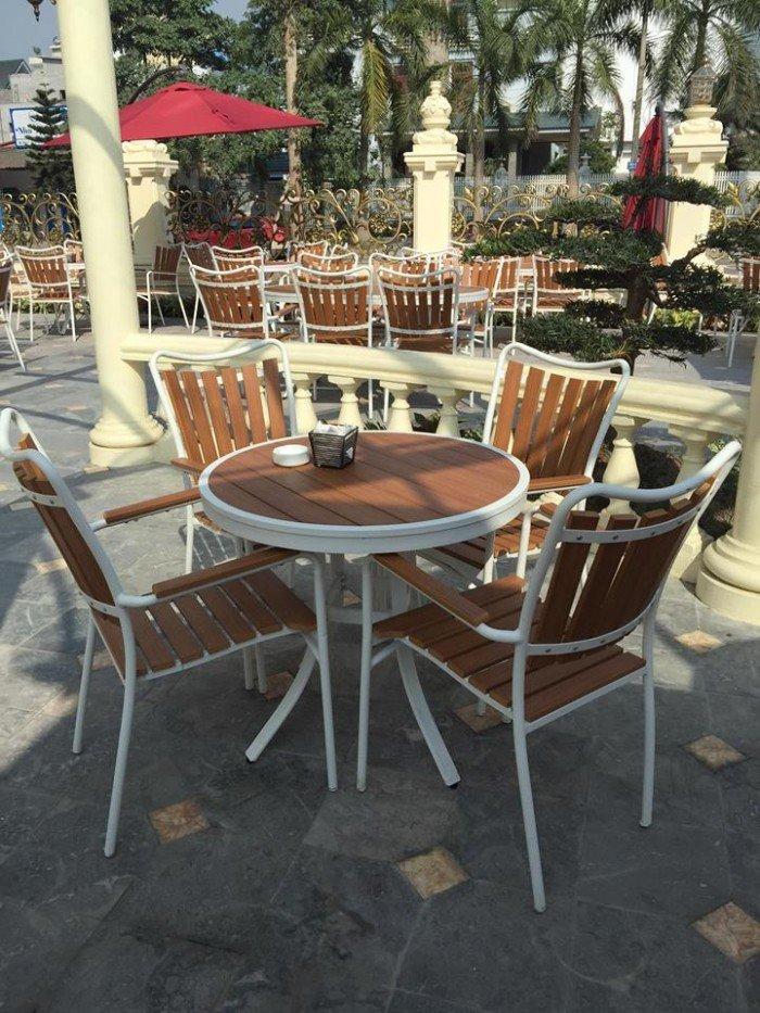 Bàn ghế giả gỗ cho quán ăn, quán cafe giá sỉ. Liên hệ: 0906843059 Lê Hoàng (24/24)0