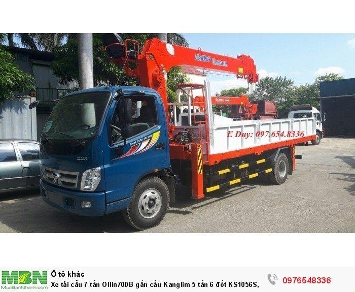 Xe tải 7 tấn Ollin700B gắn cẩu 5 tấn Kanglim KS1056