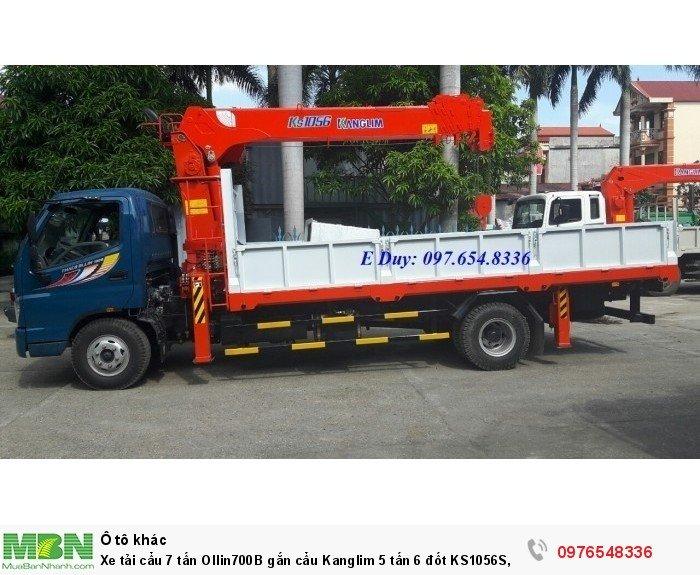 Xe tải gắn cẩu 7 tấn Ollin700B