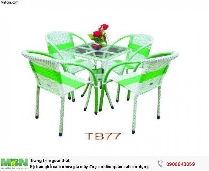 Bộ bàn ghế cafe nhựa giả mây được nhiều quán cafe sử dụng. Liên hệ: 0906843059 Lê Hoàng (24/24)0
