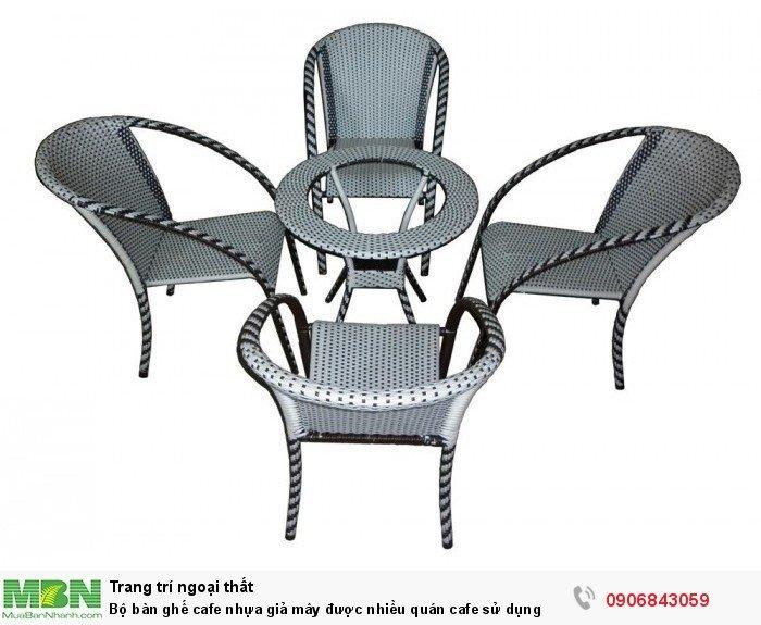 Bộ bàn ghế cafe nhựa giả mây được nhiều quán cafe sử dụng. Giao hàng toàn quốc. Liên hệ: 0906843059 Lê Hoàng (24/24)1