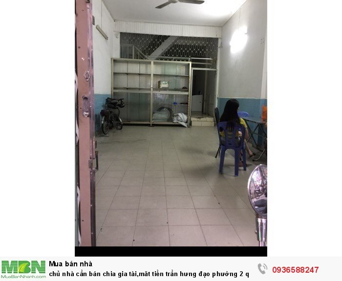 Chủ nhà cần bán chia gia tài,măt tiền Trần Hưng Đạo phường 2 quận 5