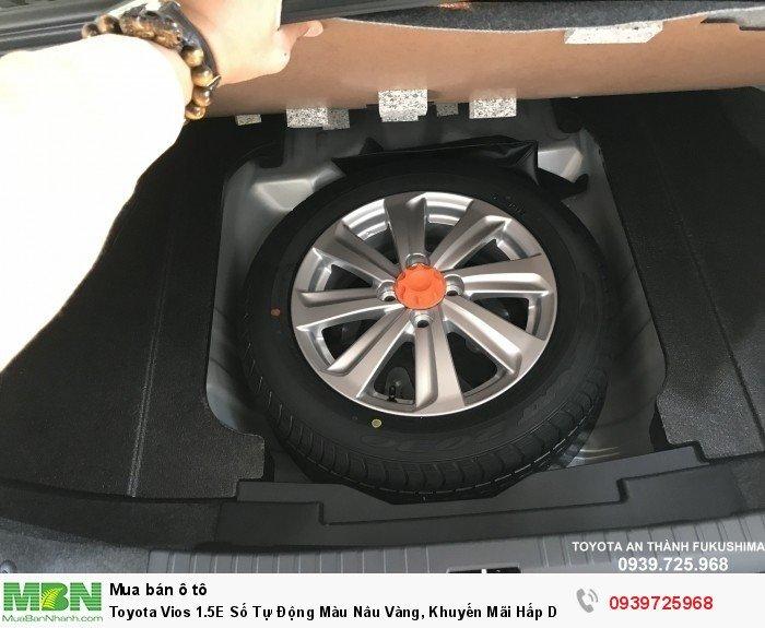 Toyota Vios 1.5E Số Tự Động Màu Nâu Vàng, Khuyến Mãi Hấp Dẫn Cho Quý Khách Hàng Nhận Xe Trong Tháng