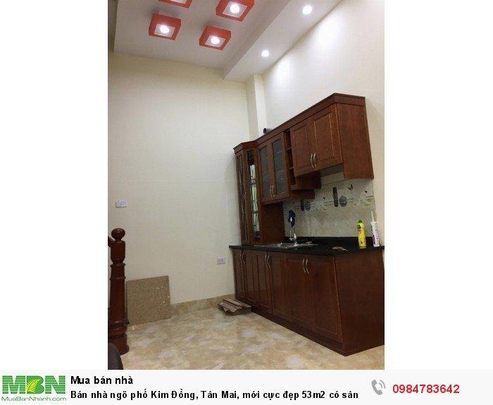 Bán nhà ngõ phố Kim Đồng, Tân Mai, mới cực đẹp 53m2 có sân 5 tầng về ở ngay