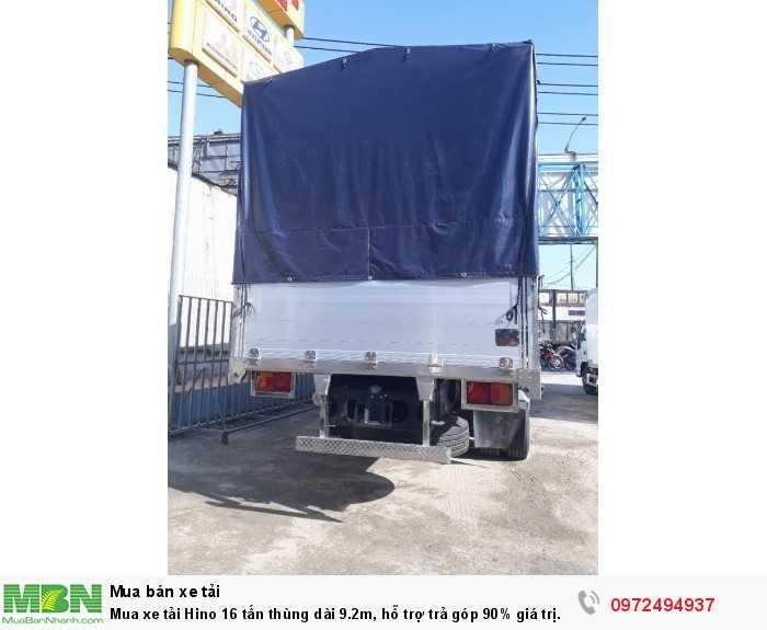 Mua xe tải Hino 16 tấn thùng dài 9.2m, hỗ trợ trả góp 90% giá trị xe 3