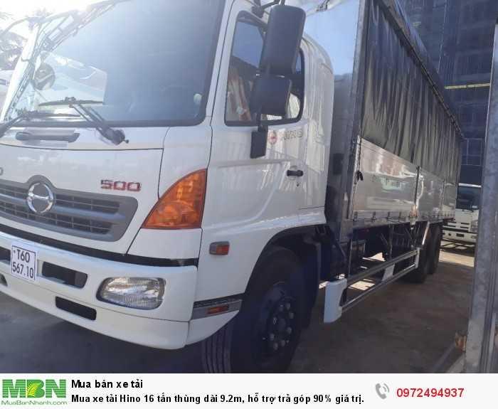 Mua xe tải Hino 16 tấn thùng dài 9.2m, hỗ trợ trả góp 90% giá trị xe 2