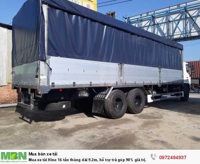 Mua xe tải Hino 16 tấn thùng dài 9.2m, hỗ trợ trả góp 90% giá trị xe