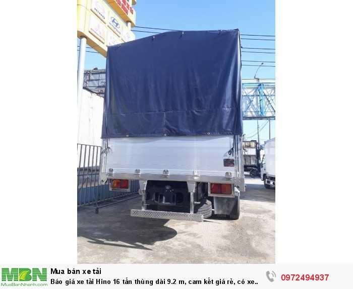 Báo giá xe tải Hino 16 tấn thùng dài 9.2 m, cam kết giá rẻ, có xe giao ngay 1