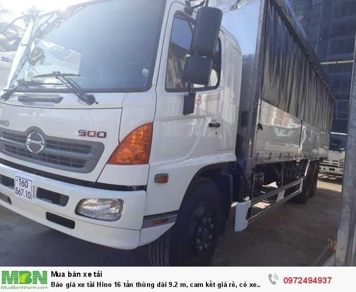 Báo giá xe tải Hino 16 tấn thùng dài 9.2 m, cam kết giá rẻ, có xe giao ngay 2