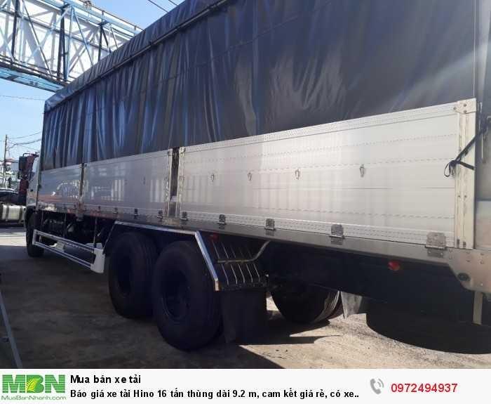 Báo giá xe tải Hino 16 tấn thùng dài 9.2 m, cam kết giá rẻ, có xe giao ngay 4