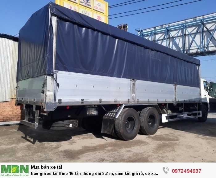 Báo giá xe tải Hino 16 tấn thùng dài 9.2 m, cam kết giá rẻ, có xe giao ngay