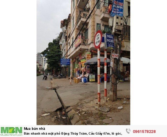 Bán nhanh nhà mặt phố Đặng Thùy Trâm, Cầu Giấy 47m, lô góc, mt 13m, kd 13.5 tỷ.
