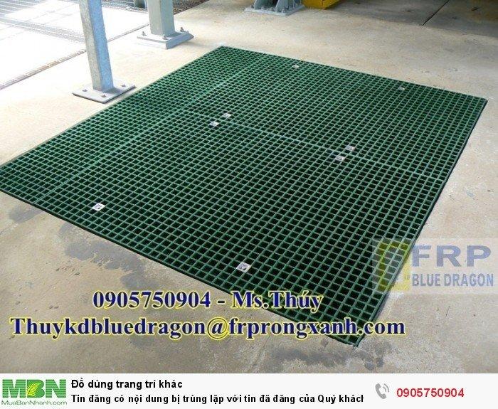 Sàn thao tác trên cao cách điện, chống cháy, sàn sợi thủy tinh frp grating15