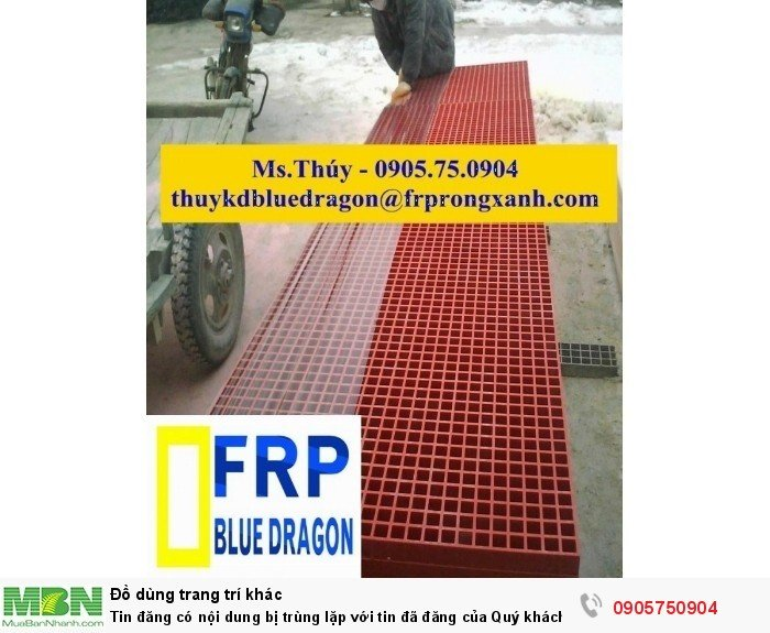 Sàn thao tác trên cao cách điện, chống cháy, sàn sợi thủy tinh frp grating24