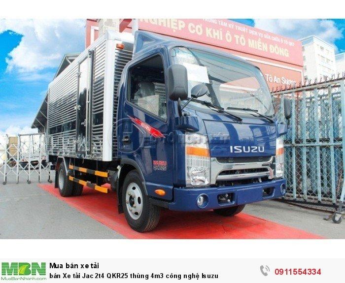 Bán xe tải Jac 2t4 QKR25 thùng 4m3 công nghệ Isuzu giá tốt tại bình dương