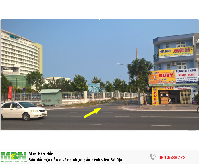 Bán đất mặt tiền đường nhựa gần bệnh viện Bà Rịa