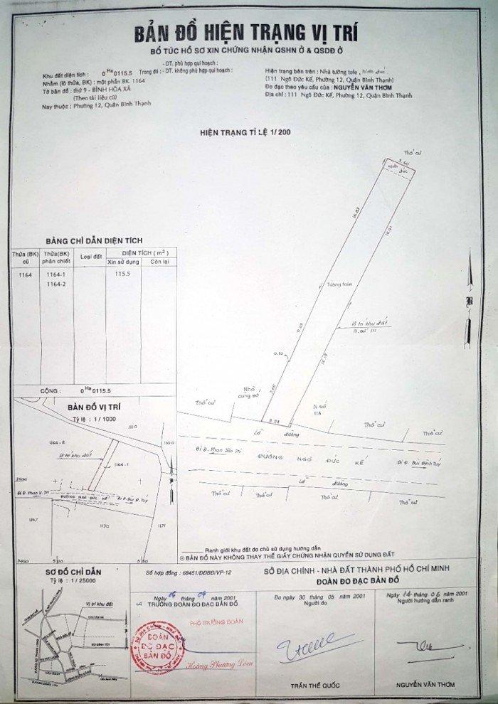 Bán nhà mặt tiền 115 m2 (3,5 × 33), đường rộng 16 m (93 Ngô Đức Kế, P.12, Bình Thạnh)