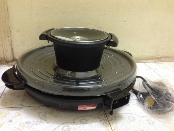 Bếp lẩu nướng Panworld PW-0709 1800W (Đen)