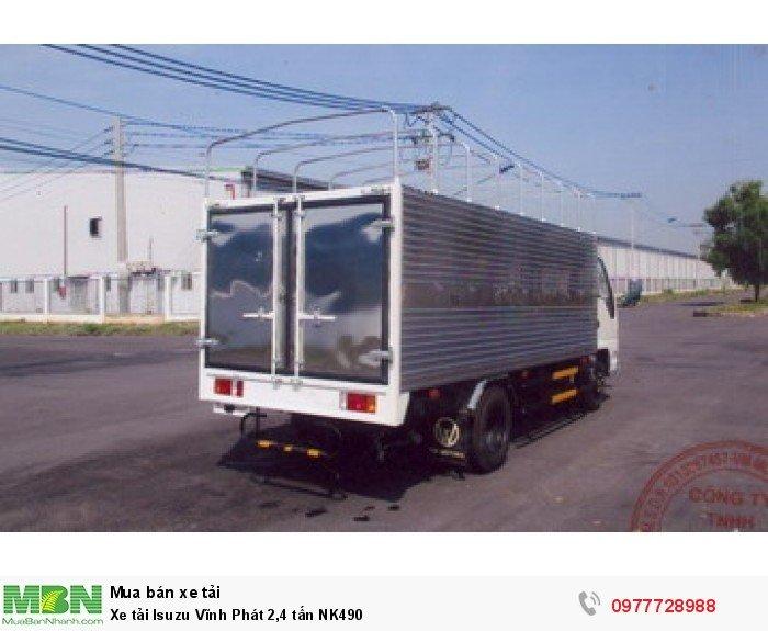 Xe tải Isuzu Vĩnh Phát 2,4 tấn NK490
