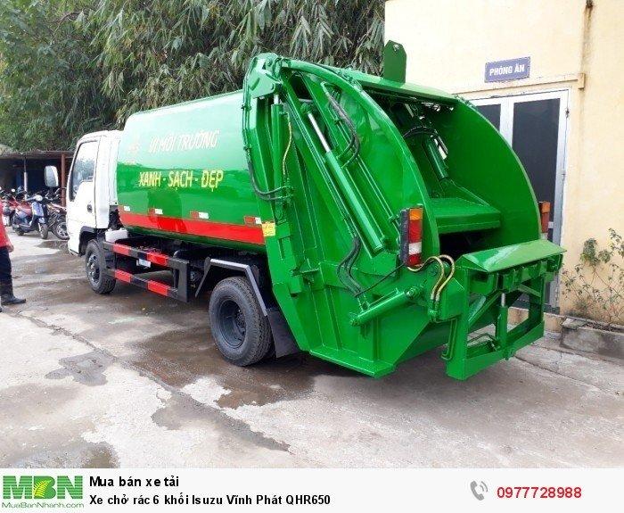 Xe chở rác 6 khối Isuzu Vĩnh Phát QHR650