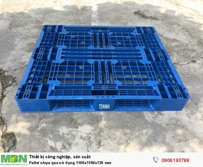 Pallet nhựa qua sử dụng 1100x1100x130 mm2