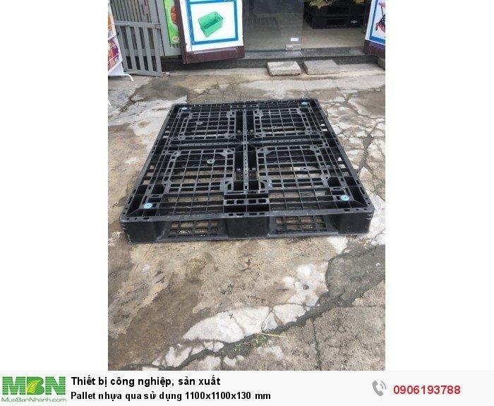 Pallet nhựa qua sử dụng 1100x1100x130 mm3