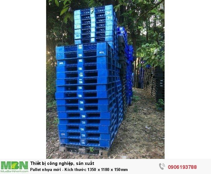 Pallet nhựa mới - Kích thước 1350 x 1180 x 150mm