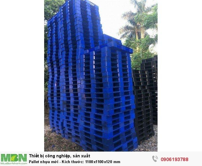 Pallet nhựa mới - Kích thước: 1100x1100x120 mm